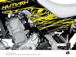Graphic Kit Frame protection ATV Eraser Fluo Yamaha 700 Raptor 2013-2016 Yellow