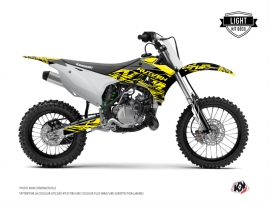 Kawasaki 85 KX Dirt Bike ERASER FLUO Graphic kit Yellow LIGHT