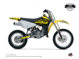 Suzuki 85 RM Dirt Bike ERASER FLUO Graphic kit Yellow LIGHT