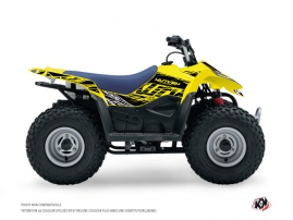Graphic Kit ATV Eraser Fluo Suzuki 90 LTZ Yellow