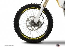 Graphic Kit Wheel decals Dirt Bike Eraser Fluo Yellow