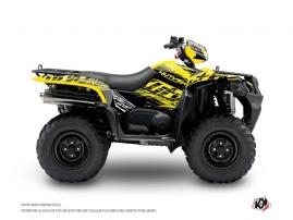 Suzuki King Quad 400 ATV ERASER FLUO Graphic kit Yellow