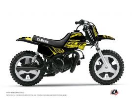 Graphic Kit Dirt Bike Eraser Fluo Yamaha PW 50 Yellow