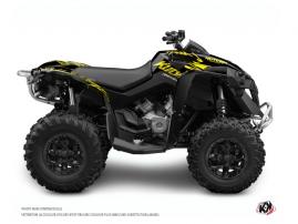 Can Am Renegade ATV ERASER FLUO Graphic kit Yellow