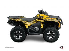 Graphic Kit ATV Eraser Can Am Outlander 400 MAX Yellow Black