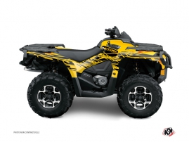 Graphic Kit ATV Eraser Can Am Outlander 400 XTP Yellow Black