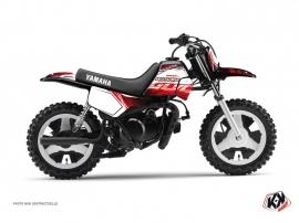 Graphic Kit Dirt Bike Eraser Yamaha PW 50 Red White