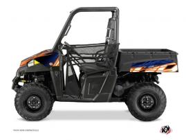 Polaris Ranger 570 UTV Eraser Graphic Kit Blue Orange