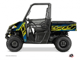 Polaris Ranger 900 UTV ERASER Graphic kit Neon Blue