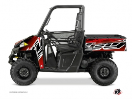 Polaris Ranger 900 UTV ERASER Graphic kit Red White