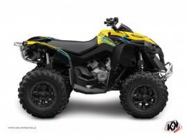 Can Am Renegade ATV ERASER Graphic kit Yellow Blue
