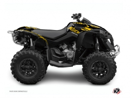 Graphic Kit ATV Eraser Can Am Renegade Yellow Black