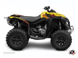 Can Am Renegade ATV ERASER Graphic kit Yellow Red