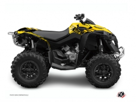 Graphic Kit ATV Eraser Can Am Renegade Yellow