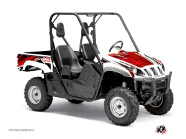 Graphic Kit UTV Eraser Yamaha Rhino Red White