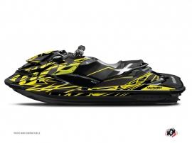 Graphic Kit Jet Ski Eraser Seadoo RXT-GTX Neon Grey