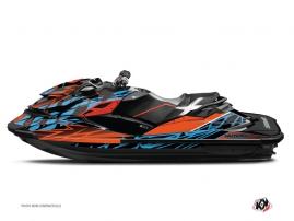Graphic Kit Jet Ski Eraser Seadoo RXT-GTX Orange Blue
