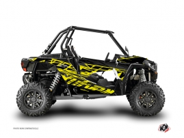 Graphic Kit UTV Eraser Polaris RZR 1000 Neon Grey