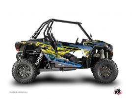 Polaris RZR 1000 Turbo UTV ERASER Graphic kit Neon Blue
