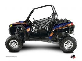 Polaris RZR 570 UTV ERASER Graphic kit Blue Orange