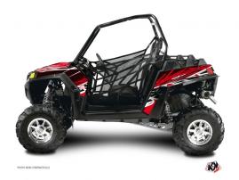 Polaris RZR 570 UTV ERASER Graphic kit Red White