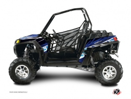 Polaris RZR 800 UTV Eraser Graphic Kit Blue