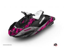 Graphic Kit Jet Ski Eraser Seadoo Spark Grey Pink