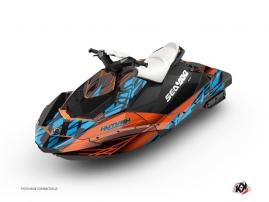 Graphic Kit Jet Ski Eraser Seadoo Spark Orange Blue