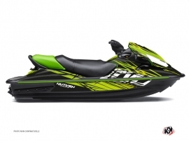 Graphic Kit Jet Ski Eraser Kawasaki STX 15F Black Green
