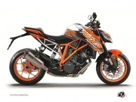 Graphic Kit Street Bike Eraser KTM Duke 1290 R Orange Black