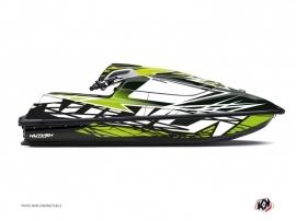Graphic Kit Jet Ski Eraser Kawasaki SX-R Black Green