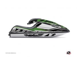 Graphic Kit Jet Ski Eraser Kawasaki SXI 750 Green Black