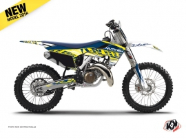 Husqvarna TC 125 Dirt Bike Eraser Graphic Kit Yellow Blue