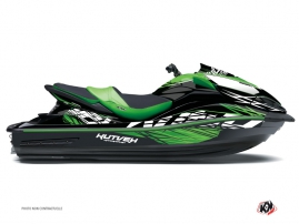 Graphic Kit Jet Ski Eraser Kawasaki Ultra 300-310 Green Black