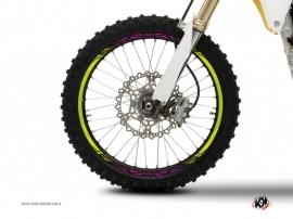 Graphic Kit Wheel decals Dirt Bike Eraser Green