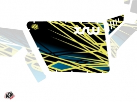 Graphic Kit Doors Standard XRW Eraser UTV Polaris RZR 570/800/900 2008-2014 Neon Blue