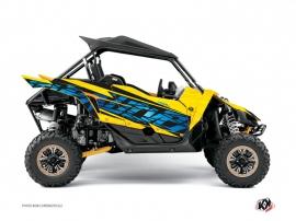 Yamaha YXZ 1000 R UTV ERASER Graphic kit Yellow Blue