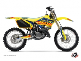 Suzuki 125 RM Dirt Bike Eraser Graphic Kit Blue Yellow