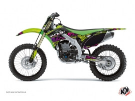 Kawasaki 250 KXF Dirt Bike Eraser Graphic Kit Green