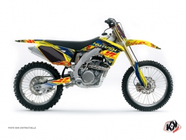 Suzuki 250 RMZ Dirt Bike ERASER Graphic kit Blue Yellow