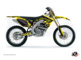 Suzuki 250 RMZ Dirt Bike ERASER Graphic kit Yellow Black