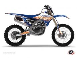 Graphic Kit Dirt Bike Eraser Yamaha 250 YZF Blue Orange
