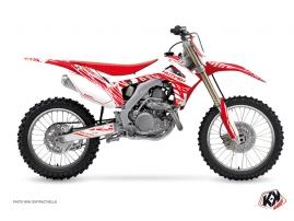 Honda 450 CRF Dirt Bike Eraser Graphic Kit White Red
