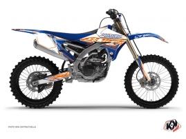 Graphic Kit Dirt Bike Eraser Yamaha 450 YZF Blue Orange