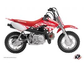 Honda 50 CRF Dirt Bike ERASER Graphic kit White Red