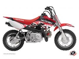 Honda 50 CRF Dirt Bike ERASER Graphic kit Red White