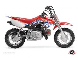 Honda 50 CRF Dirt Bike ERASER Graphic kit Red Blue