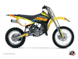 Suzuki 85 RM Dirt Bike ERASER Graphic kit Blue Yellow