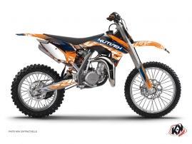Graphic Kit Dirt Bike Eraser KTM 85 SX Blue Orange