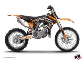 Graphic Kit Dirt Bike Eraser KTM 85 SX Orange Black